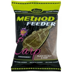 Zanęta Method Feeder Lorpio BLACK Halibut & Hemp 700g.