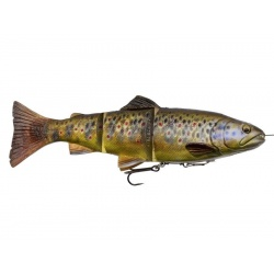 4D Line Thru Trout 15cm SS -Dark Brown Trout