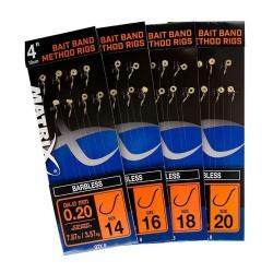 "Przypony Matrix Bait Band Method Rigs BARBLESS 4"" 10cm - roz. 16"
