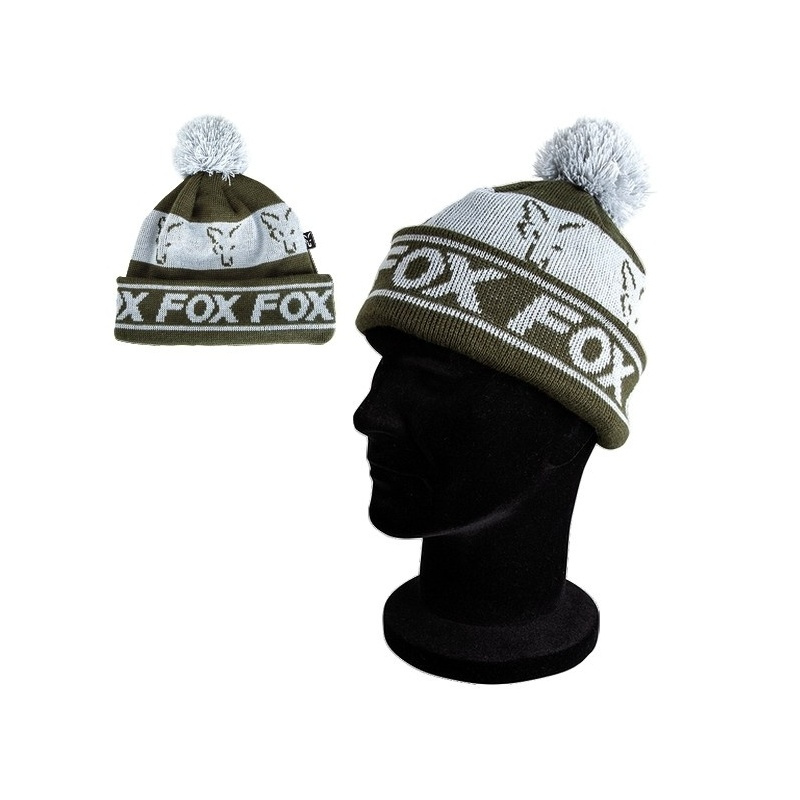 Czapka Green/Silver - Lined Bobble Hat - Fox CPR990