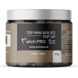 TOP BOILIES Kulki POP UP FISH 8mm/20 MatchPro