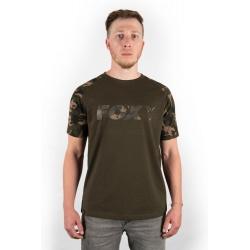 Fox Camo/Khaki Chest Print T-Shirt size S
