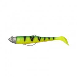 Effzett Kick-S Minnow Paddle Tail 12cm/22g, Firetiger UV
