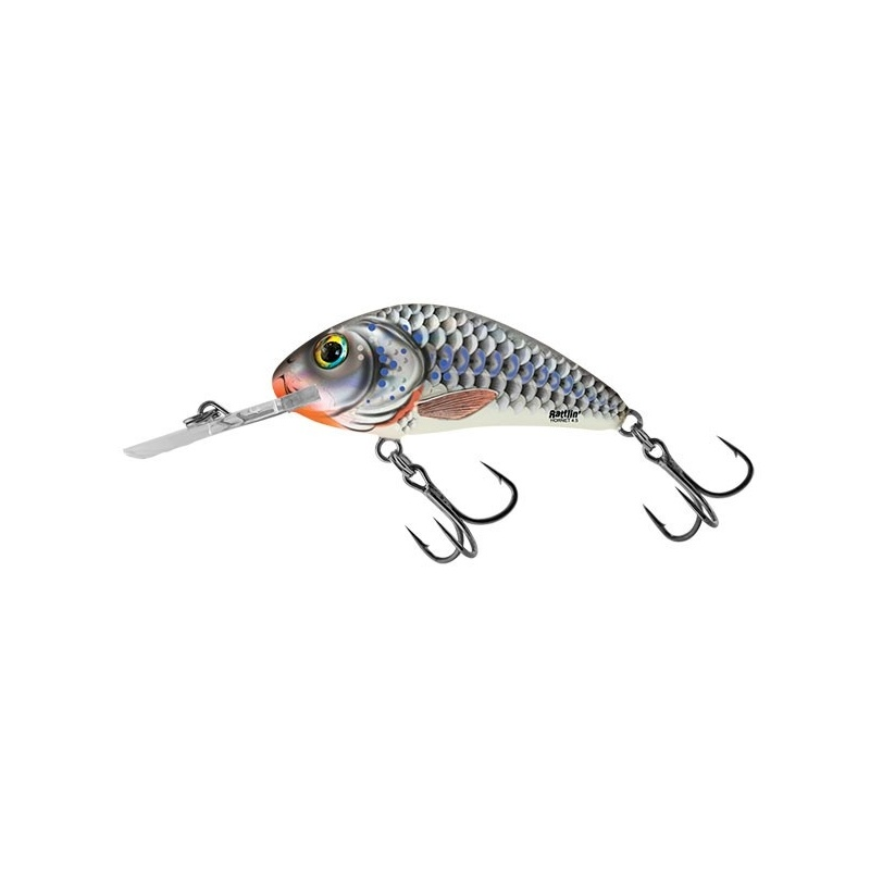 RATTLIN HORNET FLOATING - 4.5cm Wobler Salmo Silver Holo Shad
